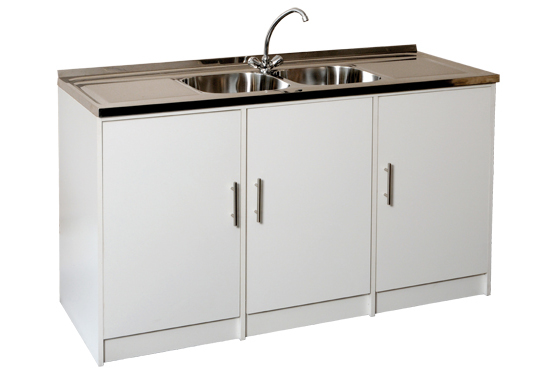 Geza products kitchen units bathroom units showers for Steel kitchen cabinets south africa