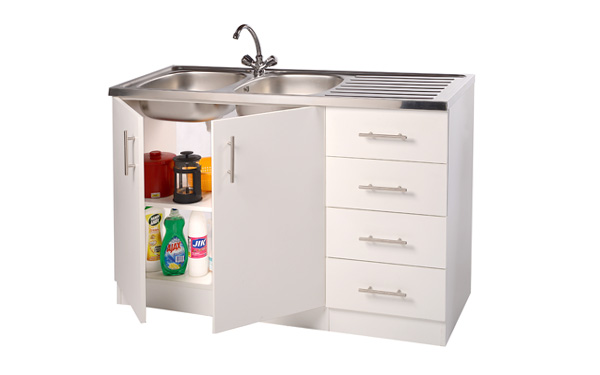 Double Bowl Sink Unit - Kitchen Sink Units