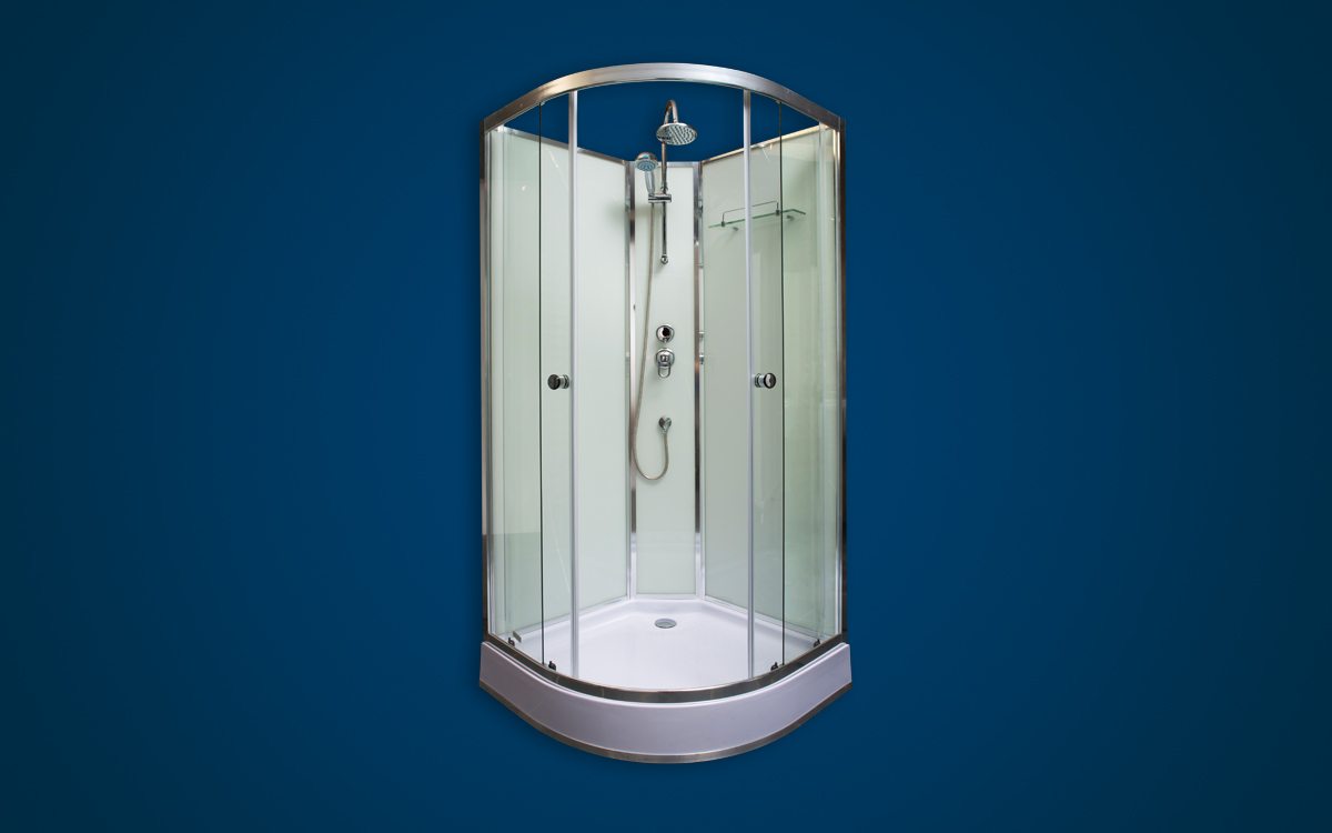 Corner Glass Shower Cubicle - Shower Units - GEZA
