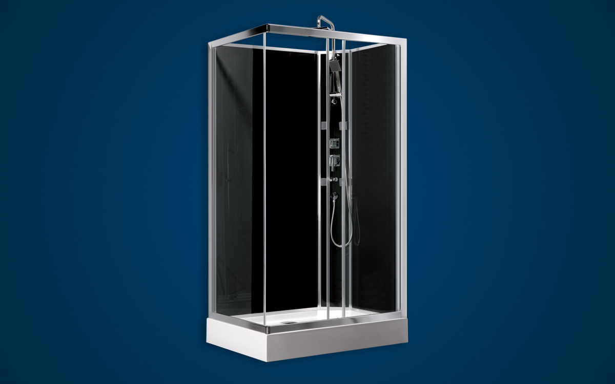 Rectangular Glass Shower Cubicle - Shower Units - GEZA