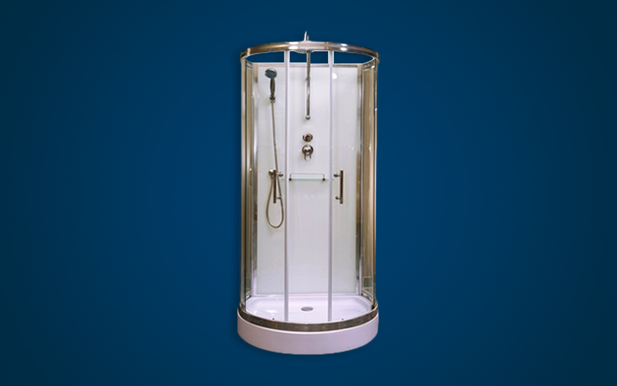 GEZA Round Glass Shower Cubicle - GEZA