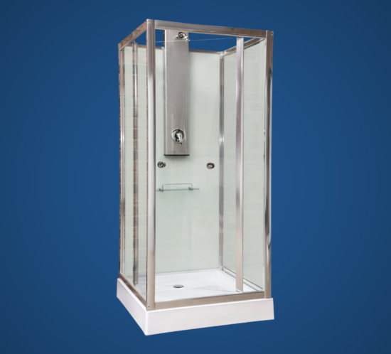 SQUARE GLASS SHOWER CUBICLE